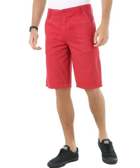 Bermuda Slim Vermelha