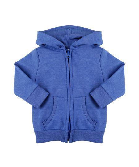 Blusão em Moletom Azul