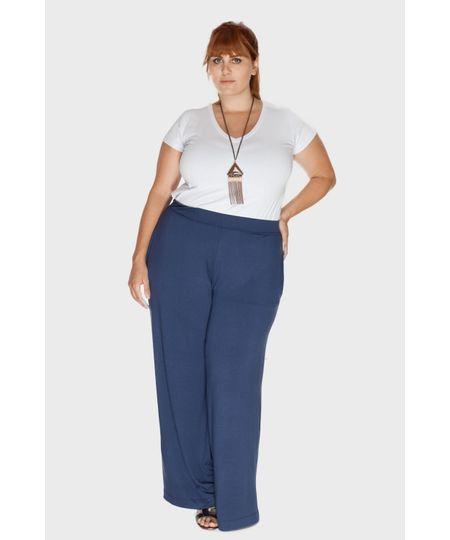 Calça Pantalona Bolso Plus Size