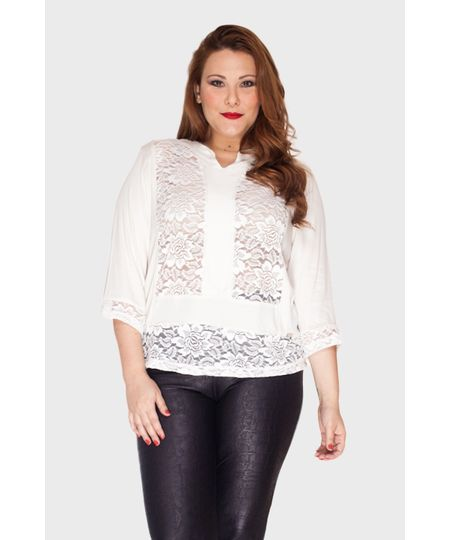 Blusa Cropped Soft Plus Size