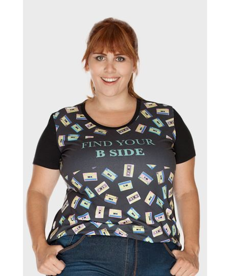 Camiseta B Side Plus Size