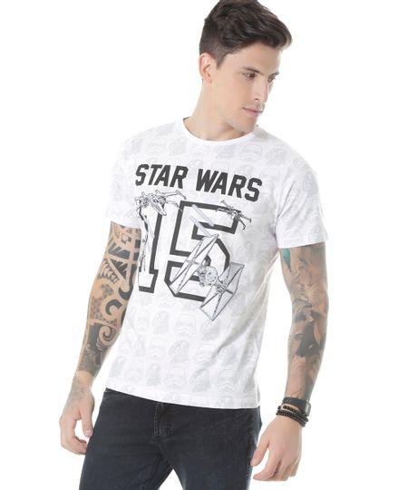 Camiseta Star Wars Branca