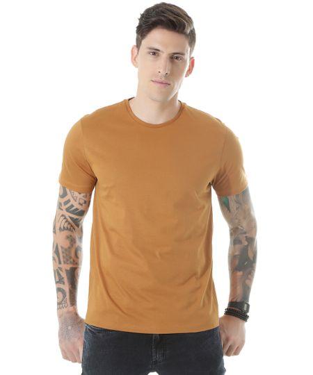 Camiseta Básica Caramelo