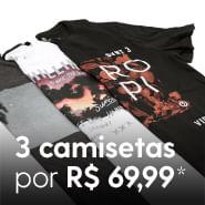 3 Camisetas por R$69,99