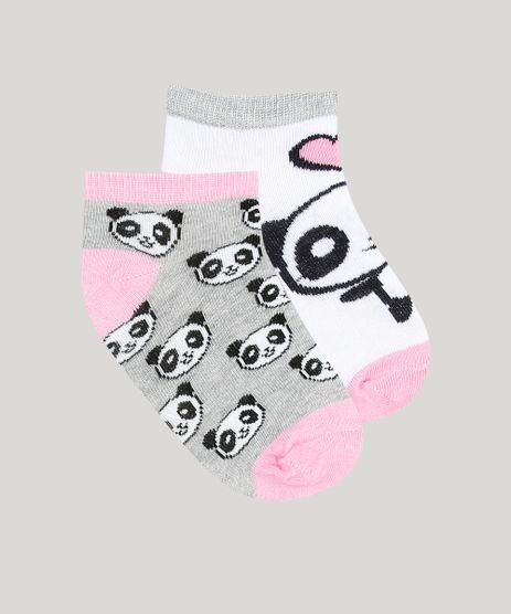 Kit-de-2-Meias-Infantil-Soquete-Estampadas-Panda-Multicor-9263984-Multicor_1