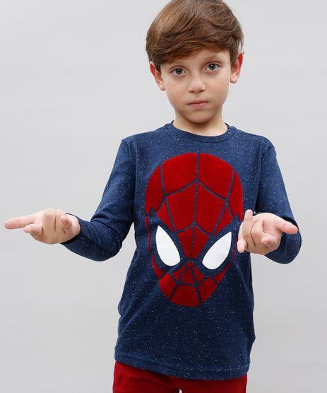Camiseta-Infantil-Homem-Aranha-Manga-Longa-Gola-Careca-Azul-Marinho-9504565-Azul_Marinho_1