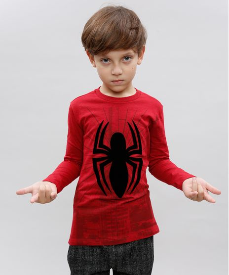 Camiseta-Infantil-Homem-Aranha-Decote-Careca-Manga-Longa-Vermelha-9410322-Vermelho_1