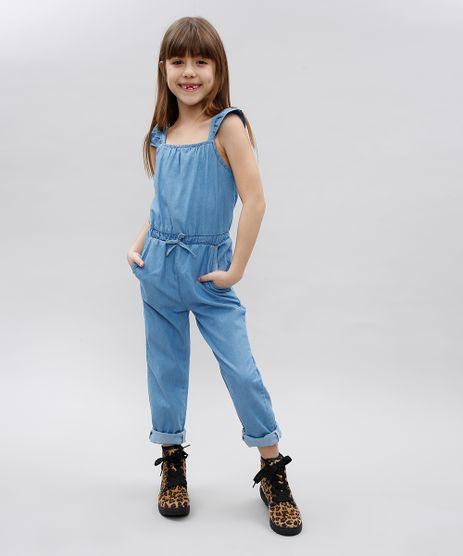 Macacao-Jeans-Infantil-com-Babado-e-Botao-Sem-Manga-Azul-Medio-9582544-Azul_Medio_1