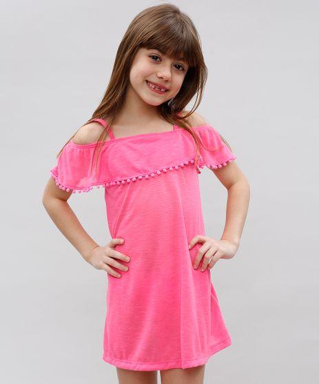 Saida-de-Praia-Infantil-com-Pompom-Pink-9519271-Pink_1