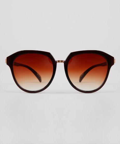 Oculos-de-Sol-Redondo-Feminino-Oneself-Marrom-9631554-Marrom_1