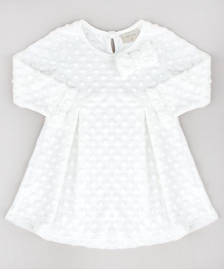 Vestido-Infantil-em-Plush-Texturizado-Manga-Longa-Off-White-9188865-Off_White_1_1