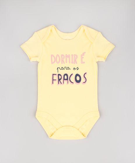Body-Infantil--Dormir-e-para-os-Fracos--Manga-Curta-Amarelo-9443094-Amarelo_1