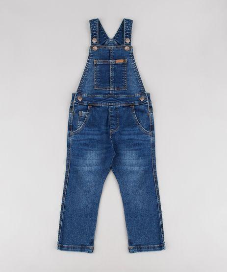Macacao-Jeans-Infantil-com-Bolsos-Azul-Escuro-9527110-Azul_Escuro_1
