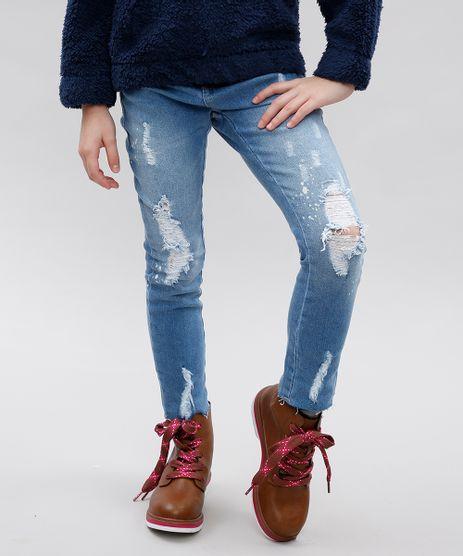 Calca-Jeans-Infantil-com-Puidos-e-Respingos-Azul-Claro-9549008-Azul_Claro_1