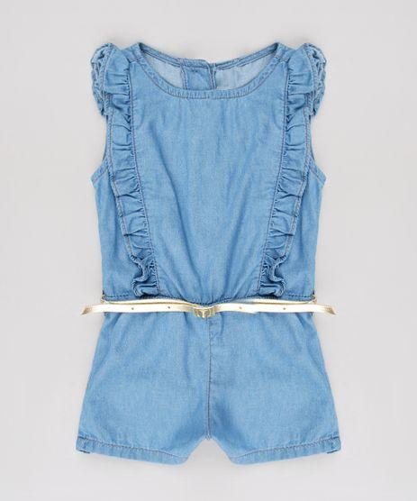 Macaquinho-Jeans-Infantil-com-Babado-e-Cinto-Sem-Manga-Azul-Claro-9561504-Azul_Claro_1