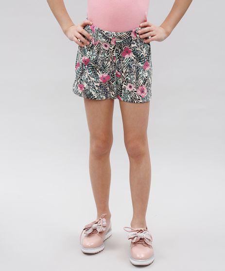 Short-Infantil-Texturizado-Estampado-Floral--Bege-Claro-9364753-Bege_Claro_1