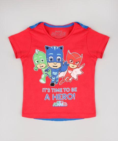 Camiseta-Infantil-PJ-Masks-com-Capa-Removivel-Manga-Curta-Vermelha-9575882-Vermelho_1