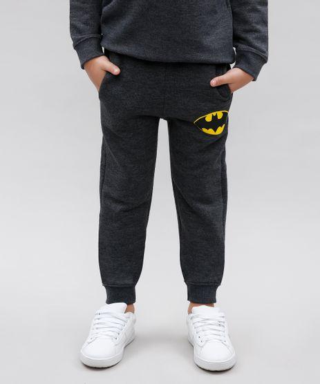 Calca-Infantil-Batman-em-Moletom-com-Bolsos-Cinza-Mescla-Escuro-9581440-Cinza_Mescla_Escuro_1