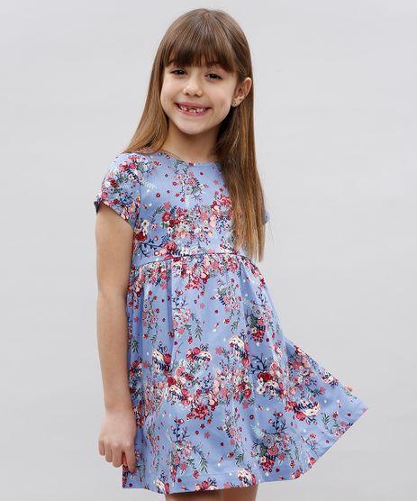 Vestido-Infantil-Estampado-Floral-Manga-Curta-Lilas-9364778-Lilas_1