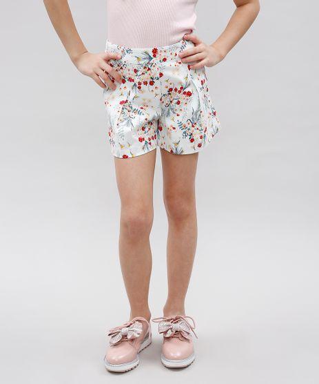 Short-Infantil-Estampado-Floral-com-Pregas-Branco-9364752-Branco_1