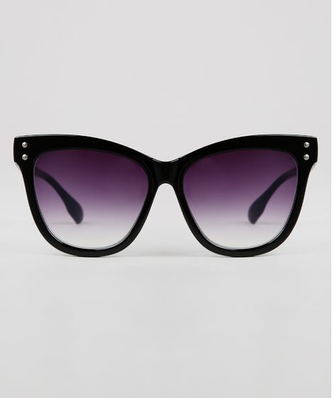 1aca8e43d Oculos-de-Sol-Redondo-Feminino-Oneself-Preto-9631603- ...