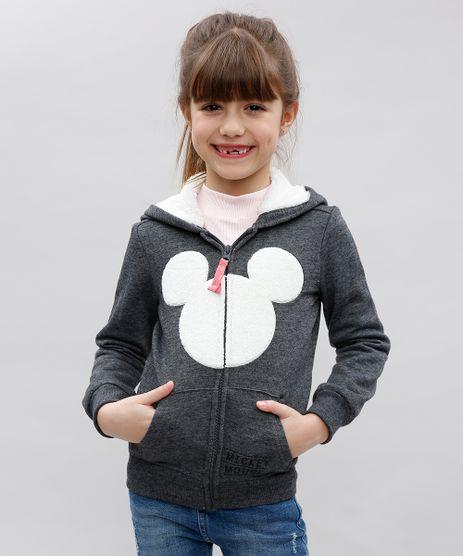 Blusao-Infantil-Mickey-em-Moletom-com-Pelo-no-Capuz-Cinza-Mescla-Escuro-9362181-Cinza_Mescla_Escuro_1