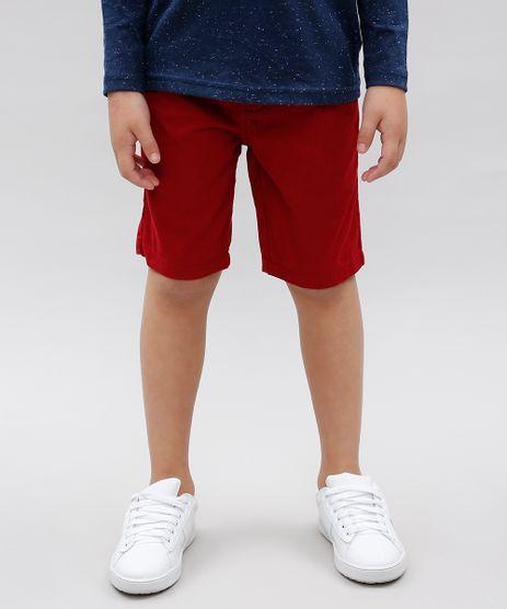 Bermuda-Infantil-Basica-em-Sarja-com-Bolsos-Vermelha-9538693-Vermelho_1