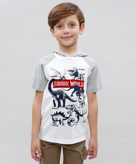 Camiseta-Infantil-Jurassic-World-com-Capuz-Manga-Curta-Gola-Careca-Off-White-9541362-Off_White_1