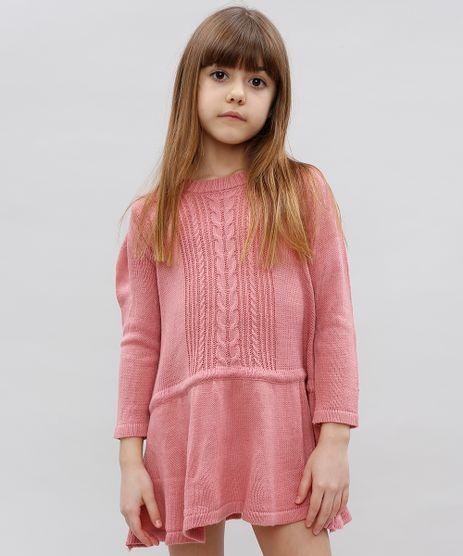 Vestido-Infantil-em-Trico-Manga-Longa-Rosa-9431339-Rosa_1