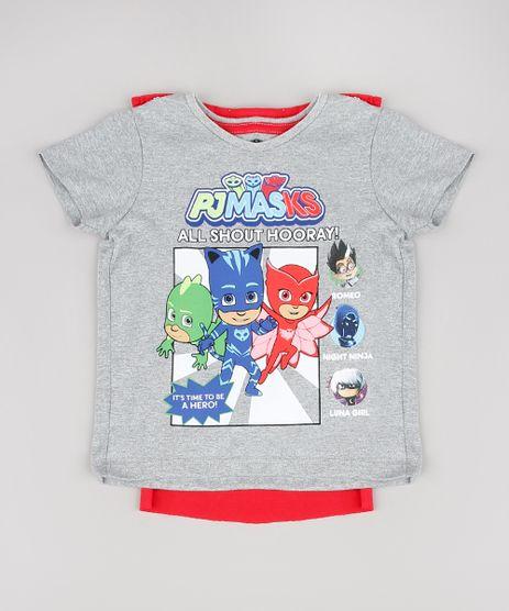 Camiseta-Infantil-PJ-Masks-com-Capa-Removivel-Manga-Curta-Cinza-Mescla-9575883-Cinza_Mescla_1
