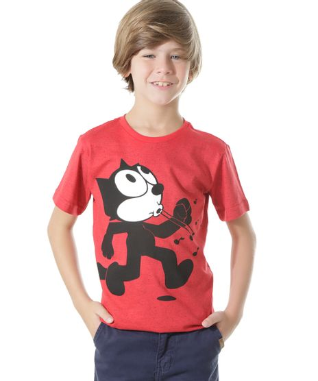 Camiseta-Gato-Felix-Vermelha-8522241-Vermelho_1