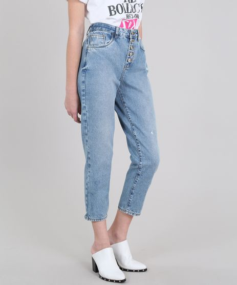 Calca-Jeans-Feminina-Mindset-Reta-Cropped-com-Puidos-Azul-Claro-9608237-Azul_Claro_1