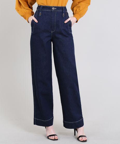 Calca-Jeans-Feminina-Mindset-Reta-com-Pespontos-Azul-Escuro-9642631-Azul_Escuro_1