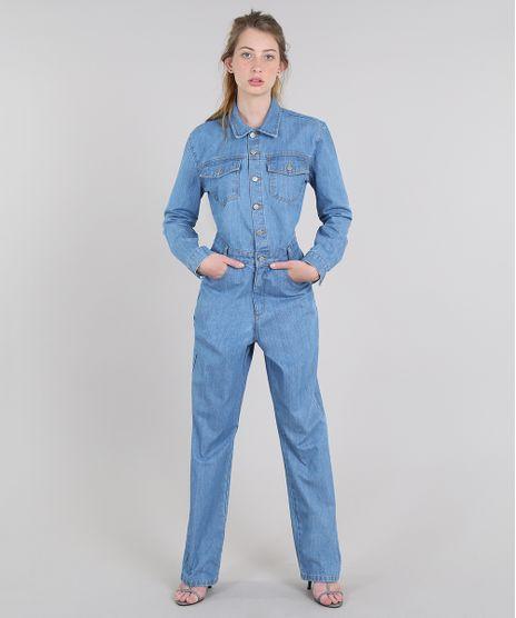 Macacao-Jeans-Feminino-Mindset-com-Bolsos-Manga-Longa-Azul-Claro-9638060-Azul_Claro_1