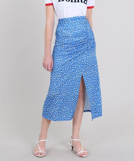 Saia-Feminina-Mindset-Midi-Estampada-Floral-com-Fenda-Azul-9651366-Azul_1