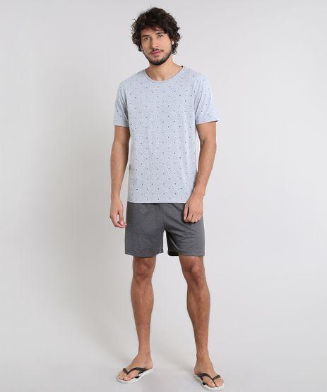 Pijama-Masculino-Estampado-Manga-Curta-Cinza-Mescla-Claro-9556240-Cinza_Mescla_Claro_1