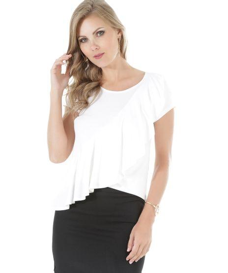 59bb30b307270 Blusa Peplum Estampada Rosa Claro · consultar em lojas. c-a. Blusa -com-Babados-Off-White-8531050-Off White 1