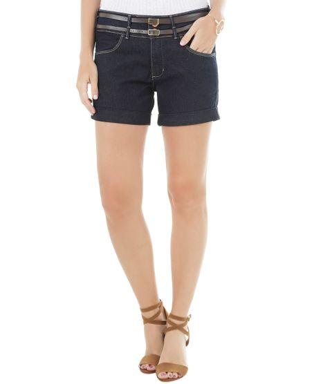 e36a8f2a0 Short-Jeans-Comfort-com-Cintos-Azul-Escuro-8490256-