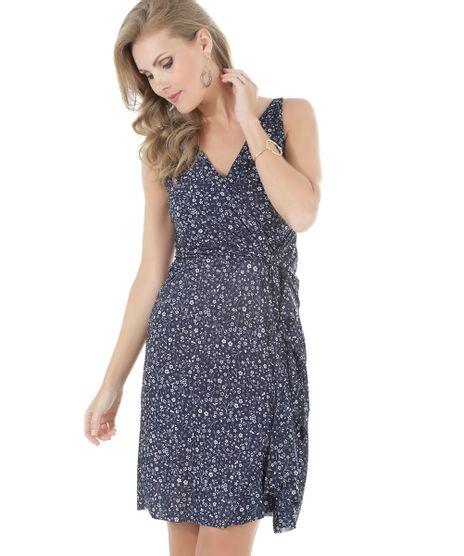 cdab089fe611e Vestido-Estampado-Floral-Azul-Marinho-8471832-Azul Marinho 1
