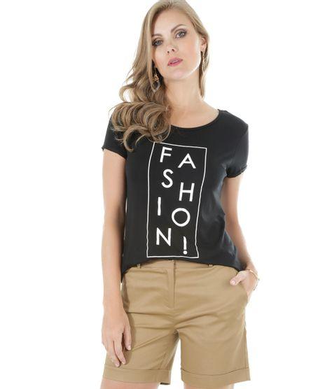 5970822ef55b0 Vestido com Recortes Rosa Claro · consultar em lojas. c-a. Blusa --Fashion--Preta-8515507-Preto 1