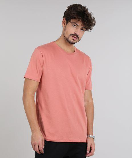 Camiseta-Masculina-Basica-Manga-Curta-Gola-Careca-Coral-9451462-Coral_1