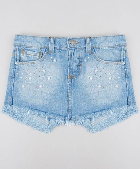 Short-Saia-Jeans-Infantil-com-Brilho-e-Barra-Desfiada-Azul-Claro-9584442-Azul_Claro_1