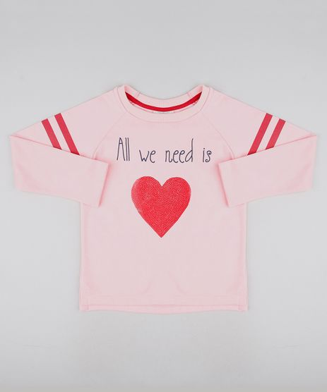 Blusao-Infantil--All-we-need-is-love--em-Moletom-Rosa-9591143-Rosa_1