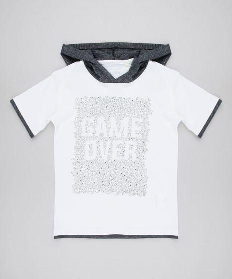Camiseta-Infantil--Game-Over--com-Capuz-Manga-Curta-Branca-9614092-Branco_1