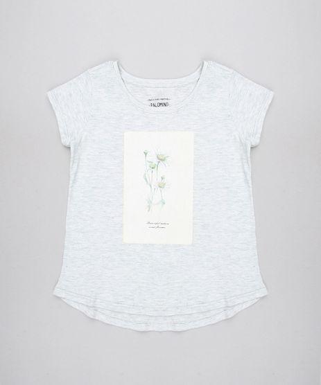 Blusa-Infantil--Sweet-Flowers---Manga-Curta-Cinza-Mescla-Claro-9590055-Cinza_Mescla_Claro_1
