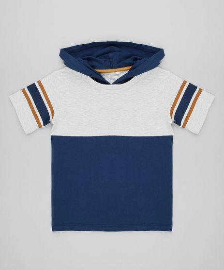 Camiseta-Infantil-com-Listras-e-Capuz-Manga-Curta-Cinza-Mescla-Claro-9565354-Cinza_Mescla_Claro_1