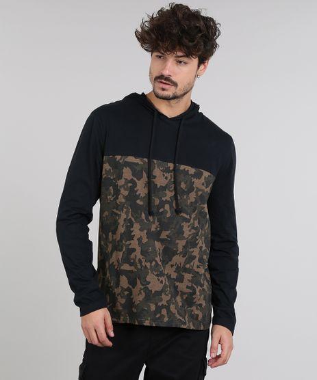 Camiseta-Masculina-com-Estampada-Camuflada-e-Capuz-Manga-Longa-Preta-9614588-Preto_1