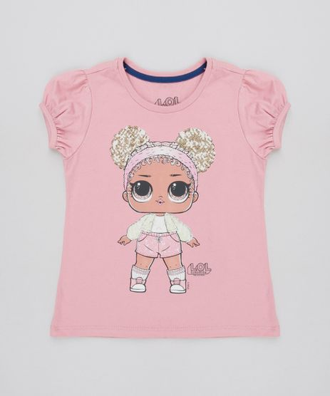 Blusa-Infantil-Lol-Surprise-com-Paete-Manga-Curta-Rosa-Escuro-9585669-Rosa_Escuro_1