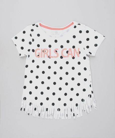 Blusa-Infantil--Girls-Can--Estampada-de-Poa-com-Franjas-Manga-Curta-Off-White-9592190-Off_White_1