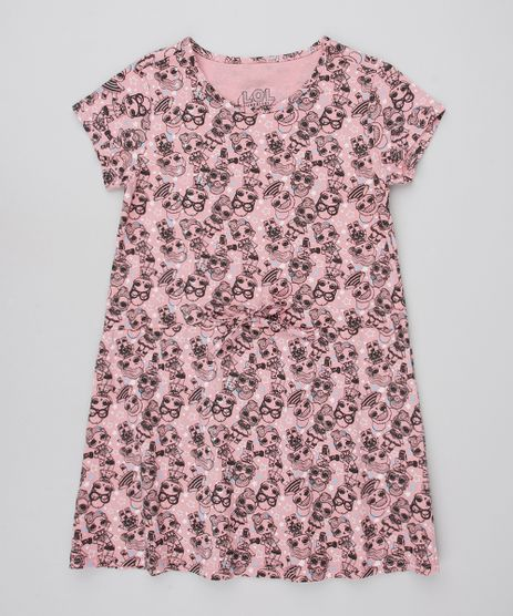 Vestido-Infantil-Estampado-LOL-Surprise-com-Laco-Manga-Curta-Rose-9585664-Rose_1